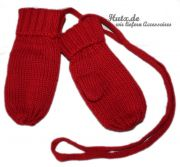 Fausthandschuh Baumwolle D�ll mit Daumen rot
