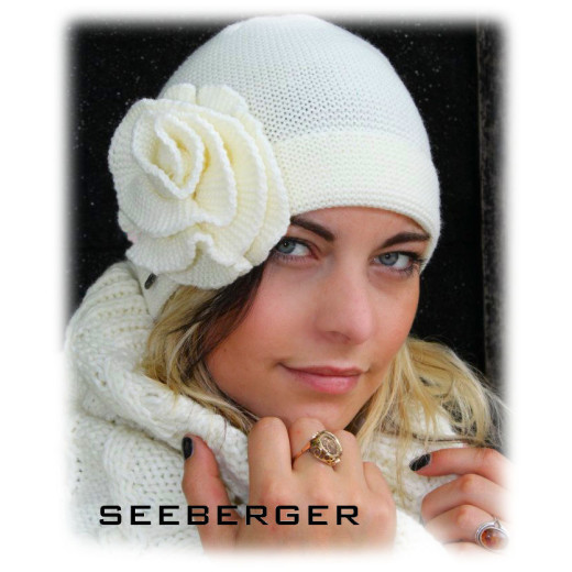 Seeberger Strickbeanie Sweet Honey offweiss