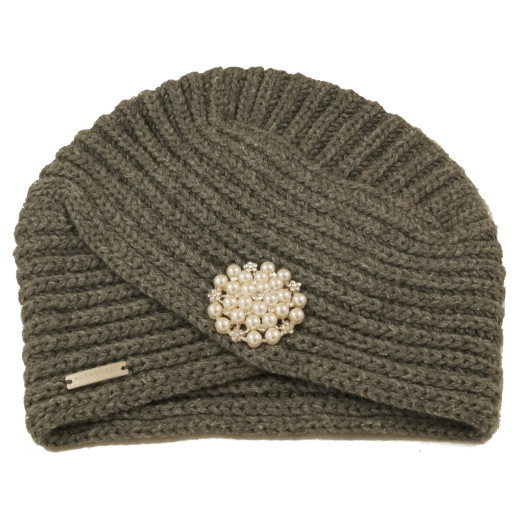 Seeberger Winter Turban mit Brosche