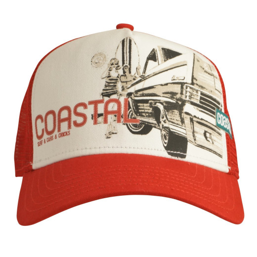 Coastal Trucker Cap Surf & Cars & Chicks