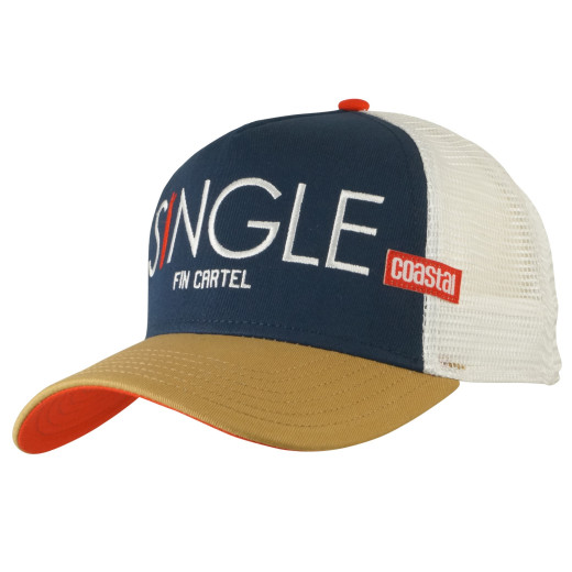 Coastal Trucker Cap Single Fin Navy