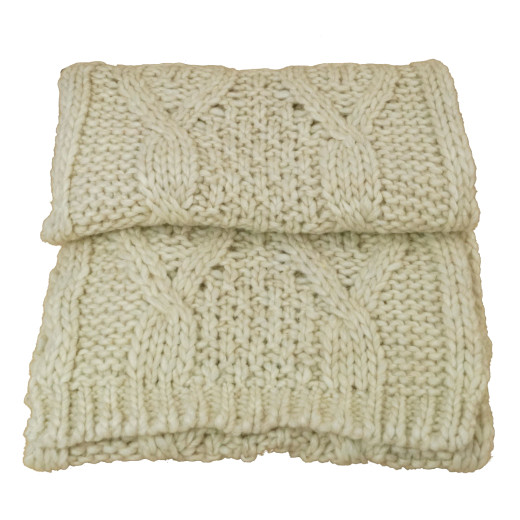 Chapeaux Pierre Alpaka-Mix Strickschal beige