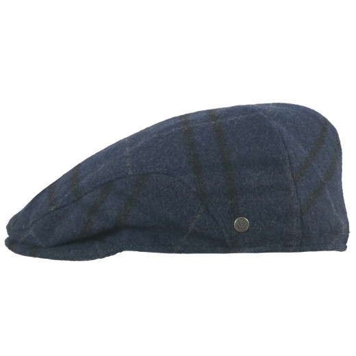 Wegener Blue Striped Earflap Wollcap