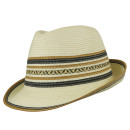 Ladies Sophisticated Sommer Trilby Weiss L/58-59