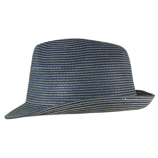 White Contrast Lined Papier Trilby
