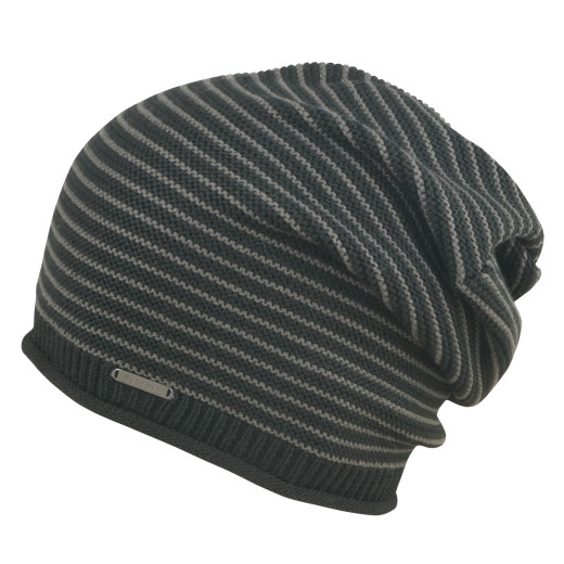 Wegener Striped Cotton-Wool Damenbeanie