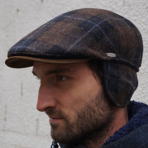 Mayser Windstopper Flatcap Houston kariert