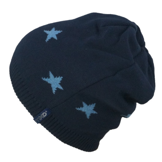Maximo Kids Wendemütze Blue Star
